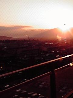 病院から見た夕日
